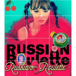 rooi fluweel Russiese roulette 3de mini album CD foto boekkaart