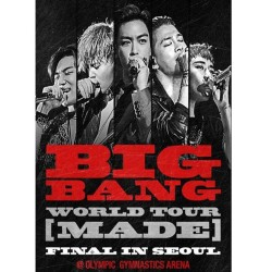 2016 bigbang tour mondial fait finale à Séoul en direct 2cd affiche 2 cartes de livres photo