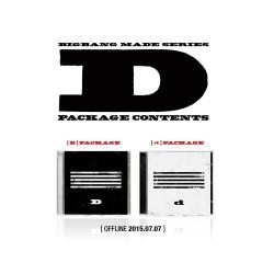 bigbang hizo la serie d cd photo book tarjeta de foto del boleto del rompecabezas
