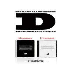 bigbang made series d cd photo book photo card puzzle ticket