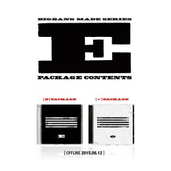 bigbang made series e cd photo book photo card puzzle ticket