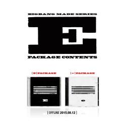 bigbang направи серија e cd фото книга картичка загатка билет