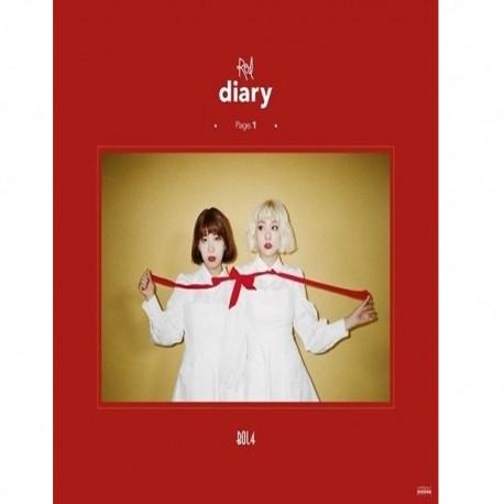 bolbbalgan4 red diary page1 1st mini album