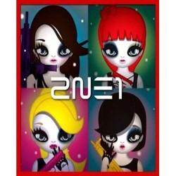 2ne1 2. mini album cd 21p mari kim illust booklet