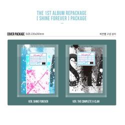 monsta x shine forever 2 ver set cd plakatas ant pakuotės bukleto nuotraukos kortelės lipdukas