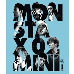 monsta x rush 2. mini album hemmeligt ver cd fotokort