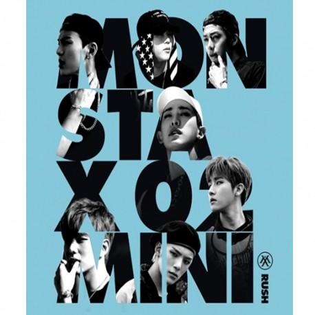 monsta x rush 2. mini albumi salajane ver cd foto kaart