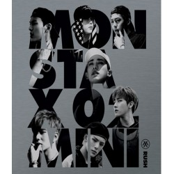 monsta x rush 2: a mini-album officiella ver cd fotokort