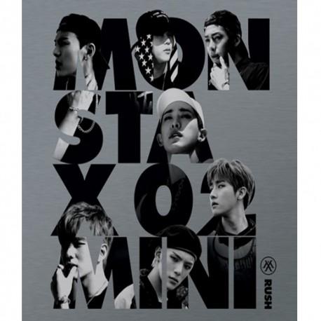 monsta x rush 2nd mini album official ver cd photo card