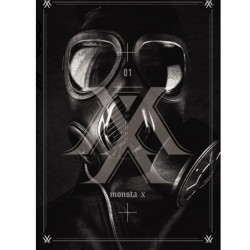 monsta x trespass 1st album cd foto kartu 92 p buklet