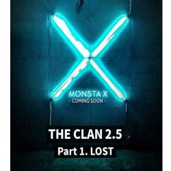 monsta x el clan 25 part1 perdido 3er mini álbum perdido cd libro de fotos, etc.
