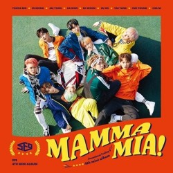 sf9 mamma mia 4e mini-album cd-boekje fotokaart briefkaart