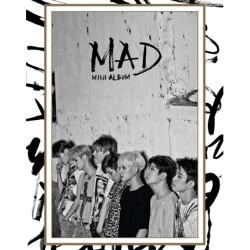 got7 mad 4. mini albumas vertikaliai verd cd photo book 1p kortelė jyp uždaryta k pop