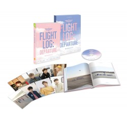 got7 flight log departure got7 monografia cd, fotoksiążka, fotografia stojąca, karta