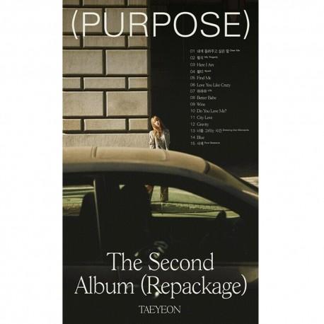 taeyeon purpose 2nd album