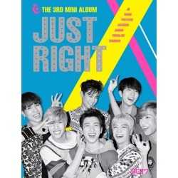 got7 just right 3rd mini album cd ,84p photo book,2p photo card sealed