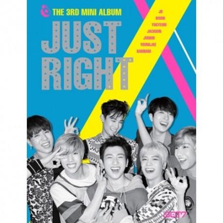 got7 just right 3rd mini album cd ,84p photo book,2p photo card sealed