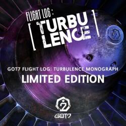got7 let log turbulencija monografija, dvd, 150p foto knjiga, 7ea foto post kartice