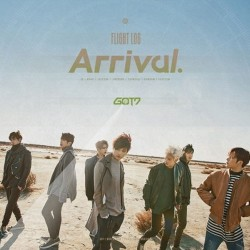 got7 flight log ankomst album cd, fotobok sett 3ea, 4p kort