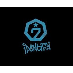 got7 identifica versiunea originală a primului album cd, foto-carte, 1p polaroid card