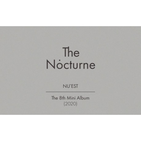 nu'est the nocturne 8th mini kit album air kit