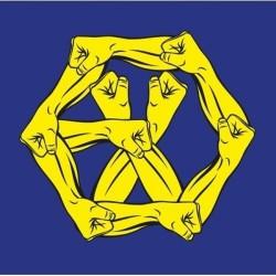 exo die oorlog die krag van musiek 4de verpakking Koreaanse CD strokiesprent kaart winkel geskenk
