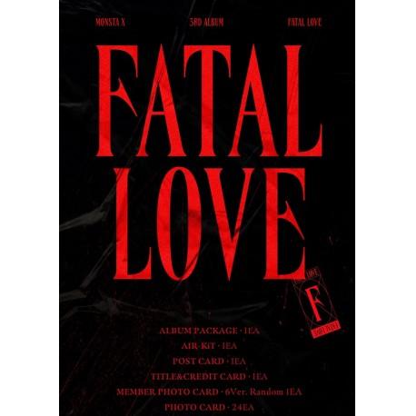 monsta x fatal love 3rd regular album kihno kit
