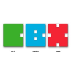 exo cbx hey mama 1er mini album cd, livre photo, unité de carte photo