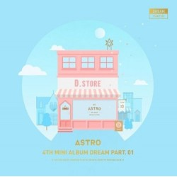 Astro dream part 01 4th mini album day ver cd, álbum de fotos, tarjeta de foto