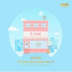 astro dream part 01 4th mini album day ver cd, buku foto, kartu foto