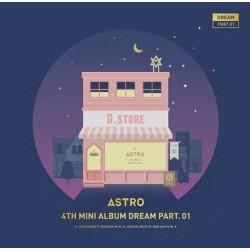 astro dream part 01 4. mini album éjszaka ver cd fotó könyv, fotó kártya