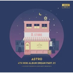 astro dream part 01 4th mini album night ver cd album fotografico, foto card