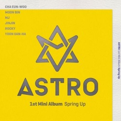 astro spring up 1. mini album cd, 56p photo book, fotografická karta, pohlednice