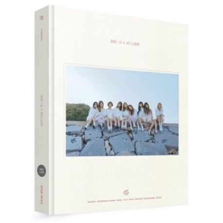 twice one in a million 1st 310p photobook pre order special paper making dvd case