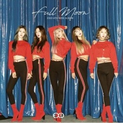 exid full moon 4th mini album cd, häfte, fotokort, papper