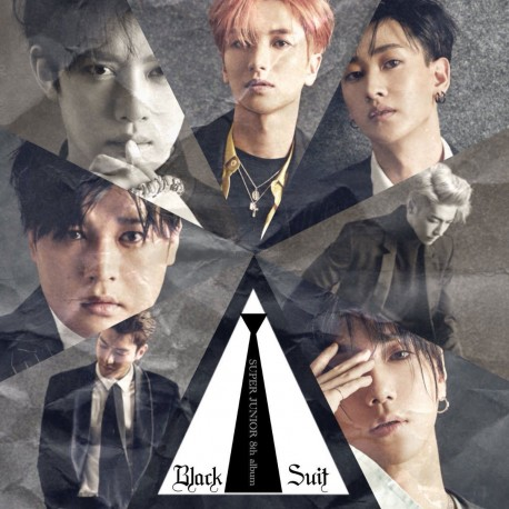 super junior play 8th album black suit ver cd ,booklet ,card