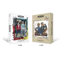 mxm match up 2nd mini album random cd poster on photo book card