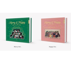 twice merry happy 1st repackage merry and happy ver cd book card